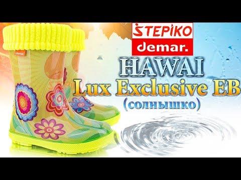 DEMAR Hawai Lux Exclusive EB (Солнышко). Видео обзор на резиновые сапоги Демар 0448EB от Stepiko.com