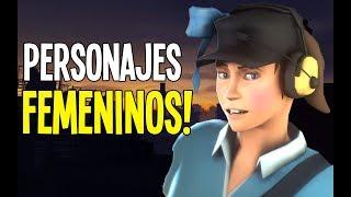 TF2 MOD REVIEW  – FEMALE CHARACTERS & VOICES / ESPANOL / (Fem Scout,Fem Pyro,Fem sniper & Fem spy)