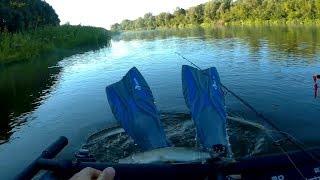 Ноги вместо Рук. Рыбалка с плотика на спиннинг