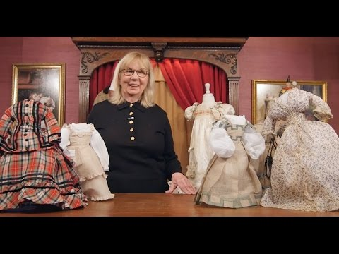 """What Finespun Threads"" Antique Doll Costumes And Accessories Part 1"