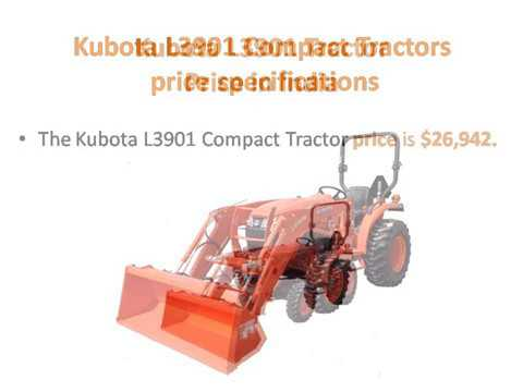 Kubota L3901 Compact Tractors Price specifications Features | Review | Overview Of The Kubota