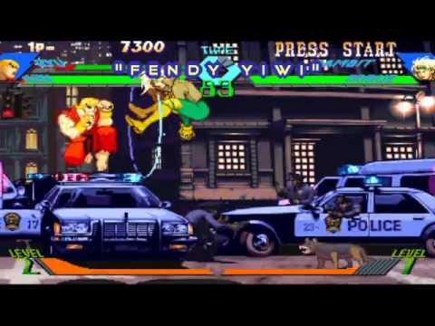 Download xmen vs street fighter ryu ken versus gambit rogue in stage one