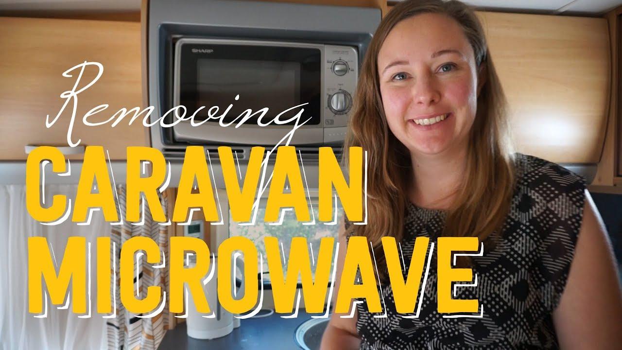 Removing Caravan Microwave