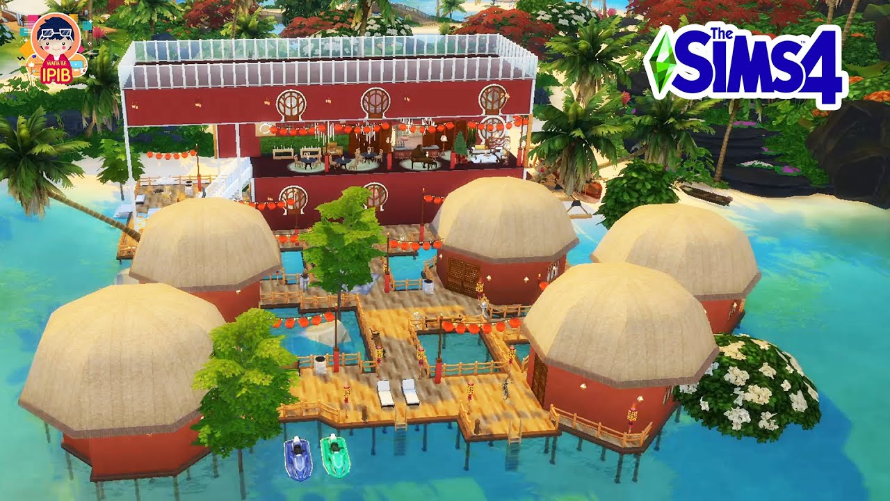 The Sims 4: IPIB Hotel for Household : Speed Build CC Free + Download Links