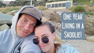ONE YEAR LIVING IN A SKOOLIE! // Day in the life.