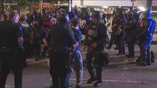 Protesters arrested overnight as violence continues in downtown Atlanta
