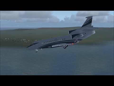 FSX | Landing in Isle of Man Dassault Falcon 7x