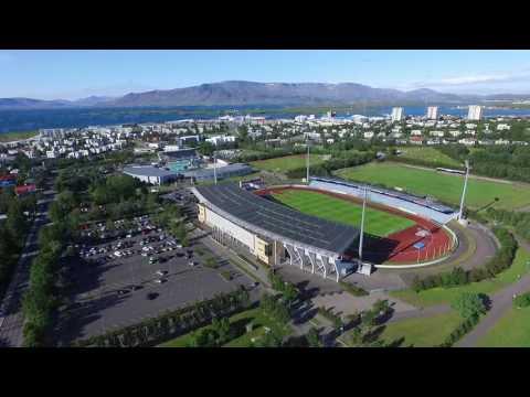Iceland's National Football Stadium (Laugardalsvöllur) (Drone Footage)