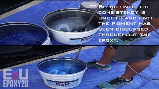 Epoxy2U Metallic Epoxy Installation