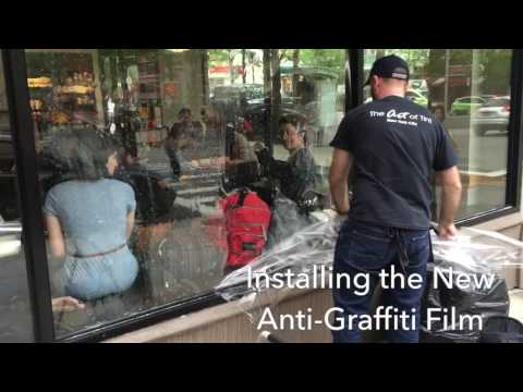Installing Anti Grafitti Film