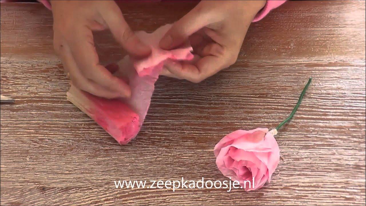 Verwonderend Paper Roses of Papieren Rozen maken - YouTube CF-45