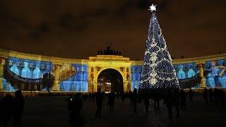 новогоднее световое шоу на Дворцовой площади 2016-12-29