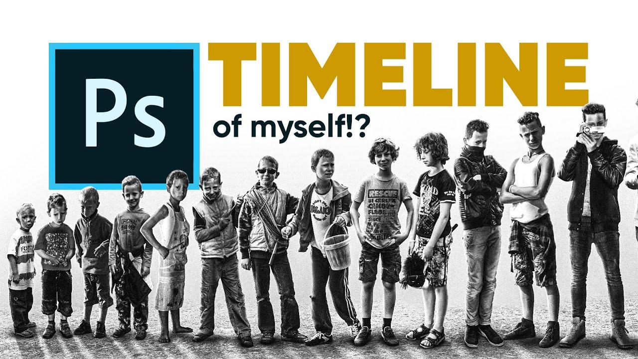 I Photoshopped a Timeline of MYSELF! (Photoshop)