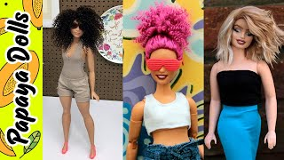 BARBIE  HAIRSTYLES 👸 Barbie Hair Cut and Reroot ✂� Hair Transformation Tutorial