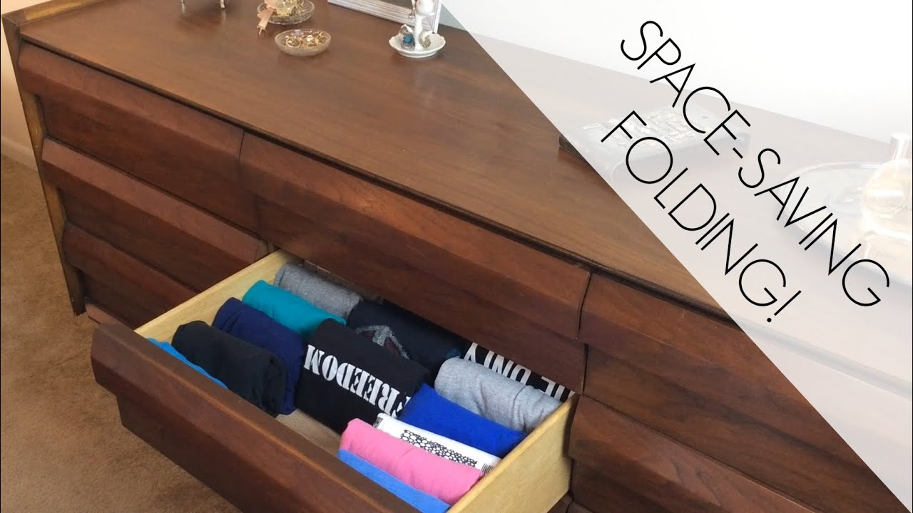 How To Fold Clothes To Save Space Prevent Wrinkles Youtube
