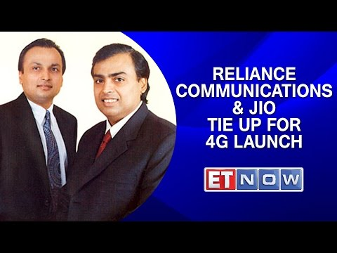 Reliance Communications & Reliance Jio Tie Up For 4G Launch