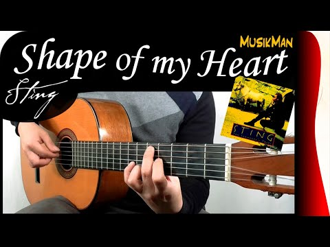 SHAPE OF MY HEART 💗 - Sting / GUITAR Cover / MusikMan #146