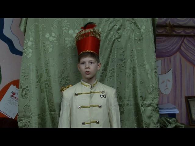 Изображение предпросмотра прочтения – МатвейМеркушин читает отрывок изпроизведения «Бородино» М.Ю.Лермонтова