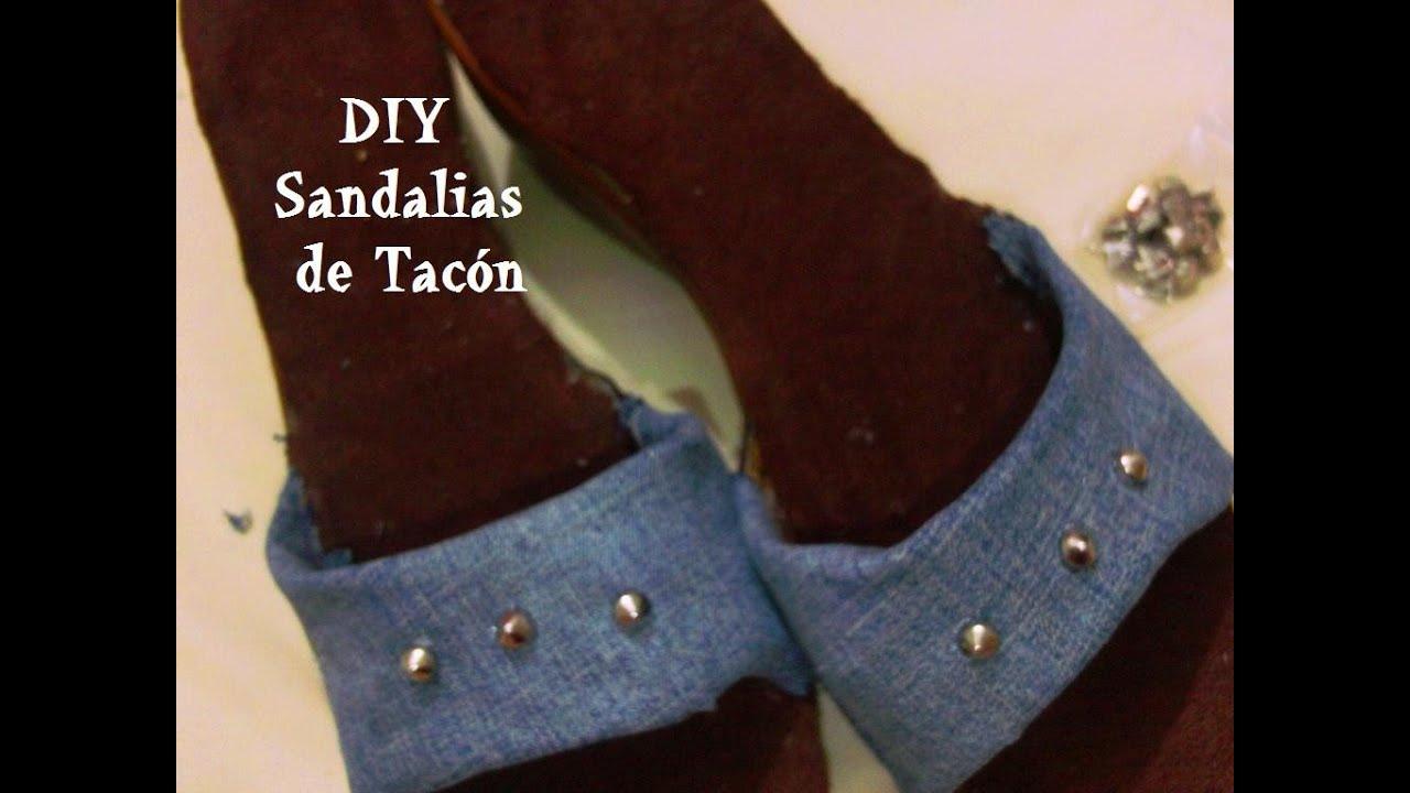 Renueva tus sandalias o zapatillas de tacón !   DIY   HTM