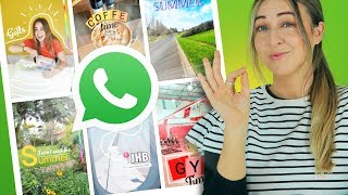 WhatsApp Status | 10 Creative Ideas | Using ONLY The App!!