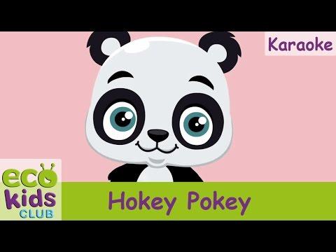 Hokey Pokey from EcoKids Club  - Karaoke - Children Nursery Rhyme - Kids Songs