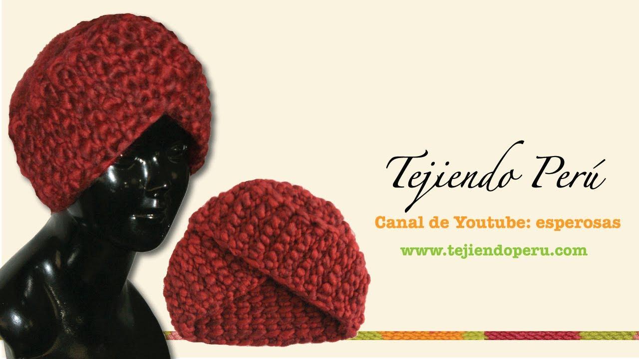 Cómo tejer un gorro tipo turbante en ganchillo tunecino (o cualquier ...