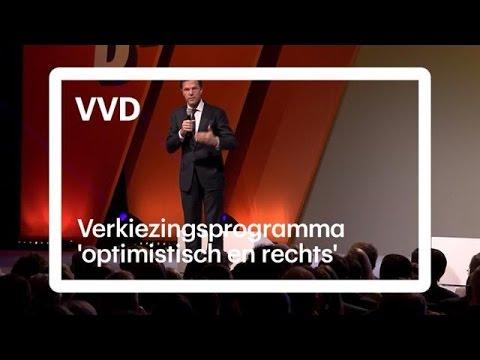 'Rechts en optimistisch', dit staat er in het programma van de VVD