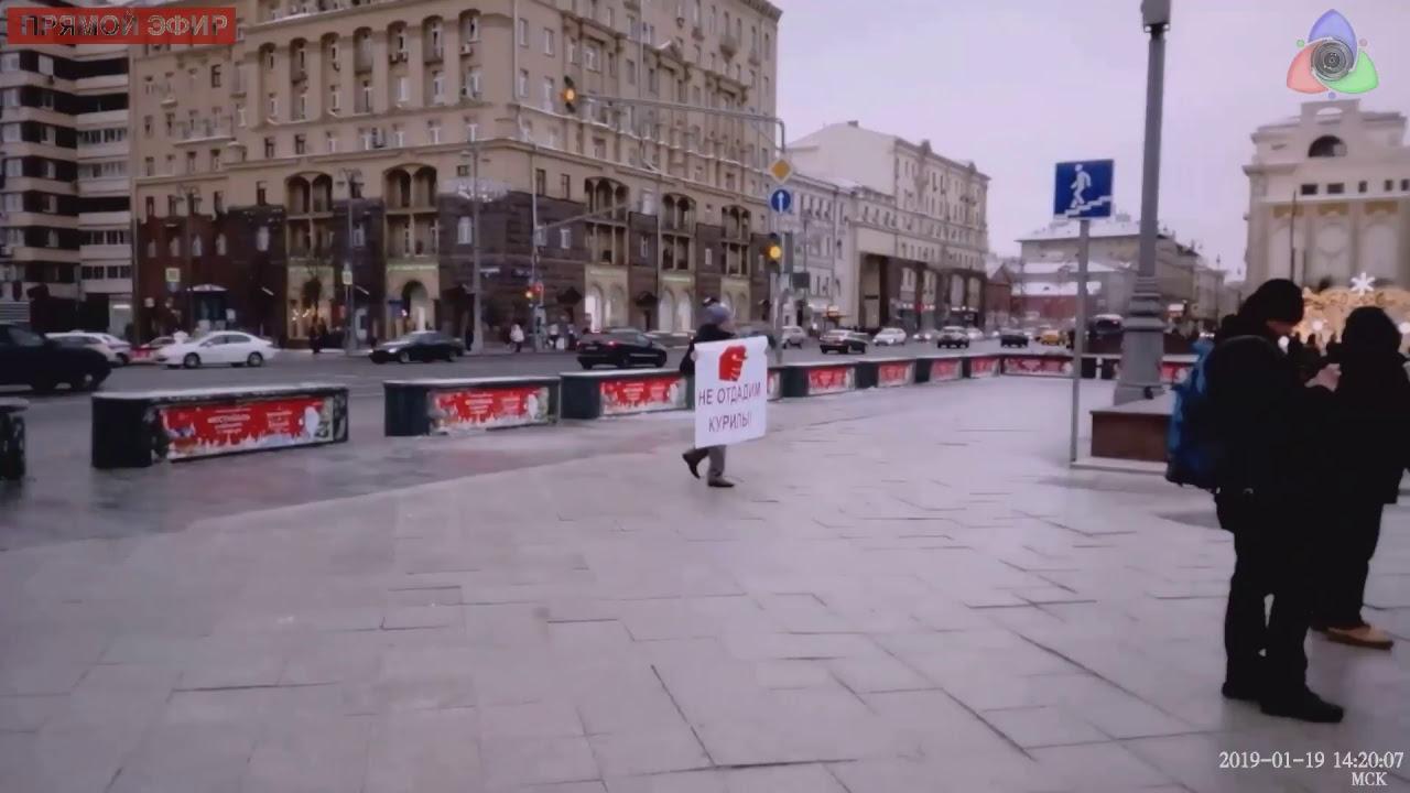 Пикеты на Пушкинской площади