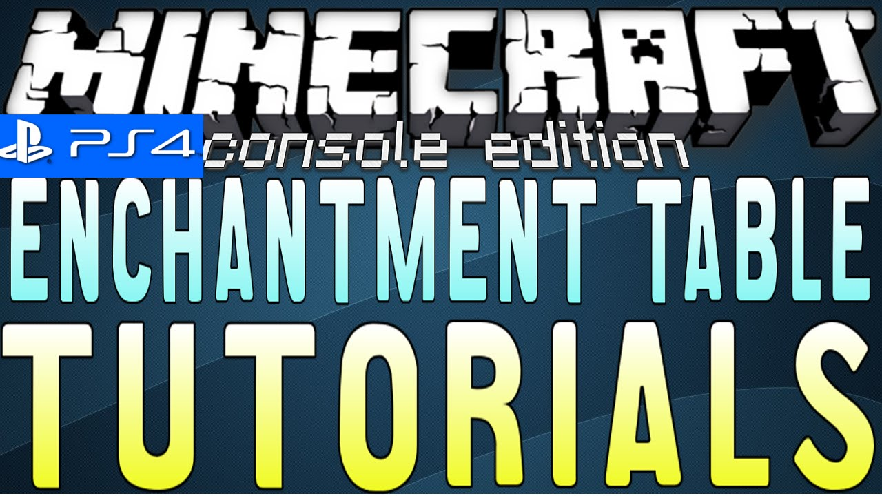 How To Make An Enchantment Table In Minecraft Ps3