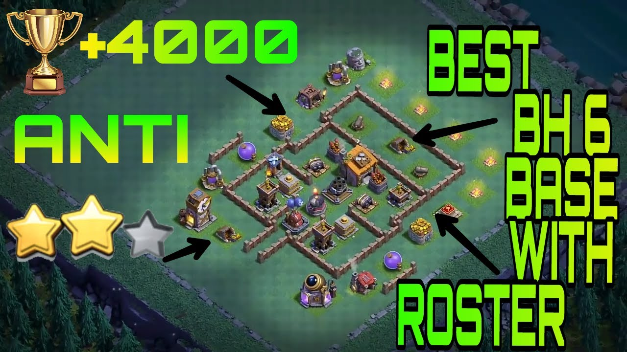 Best bh 6 base anti 2 star with replay layout clash of The best layout