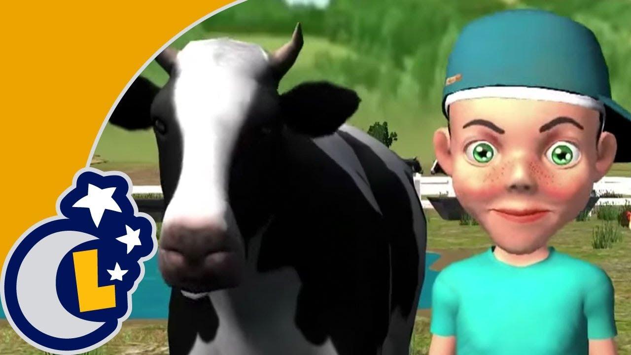 La Vaca Lechera . Canciones Infantiles de la Granja del Abuelo . Videos Educativos para Niños #