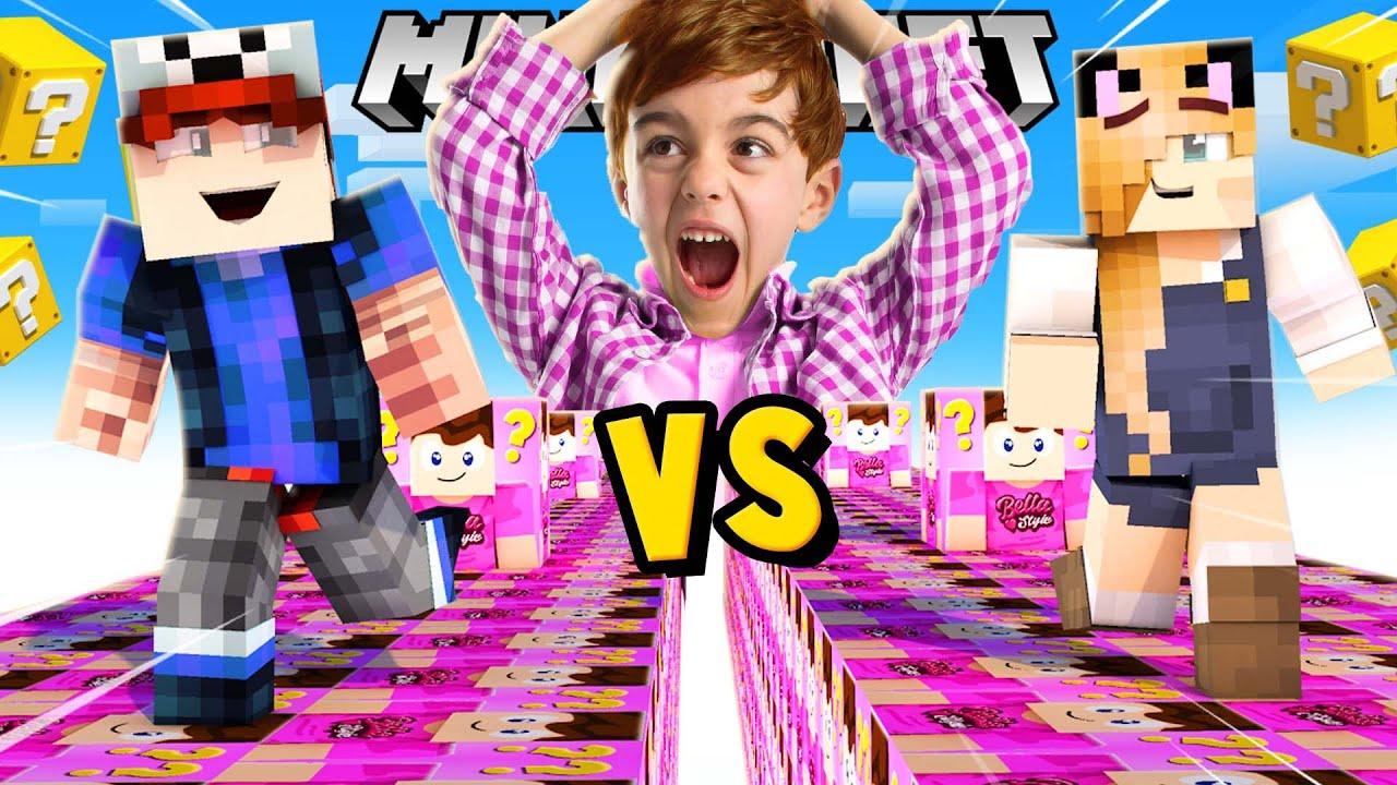 SZALONY WYŚCIG! - SZALONY FAN LUCKY BLOCKI MINECRAFT! | Vito vs Bella