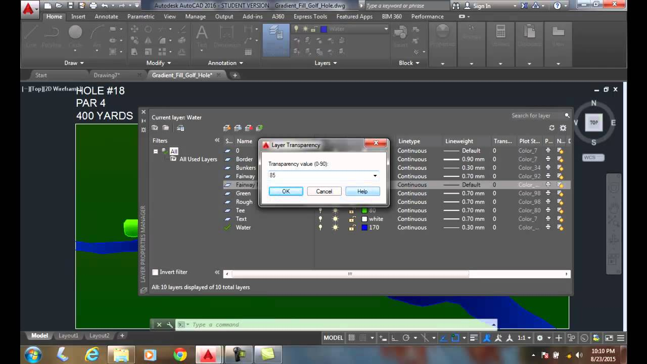 AutoCAD I 05-16 Layer Transparency Setting Transparency