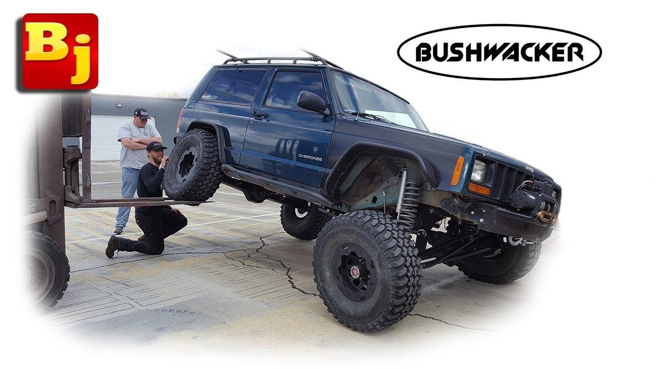 Bushwacker Flat Style Fender Flare Install Jeep Xj Youtube