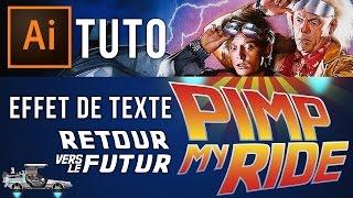 Tuto Illustrator : Typo Retour Vers Le Futur