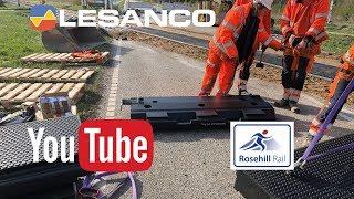 Lesanco installerer Rosehill Rail jernbaneoverkørsel på Skagensbanen