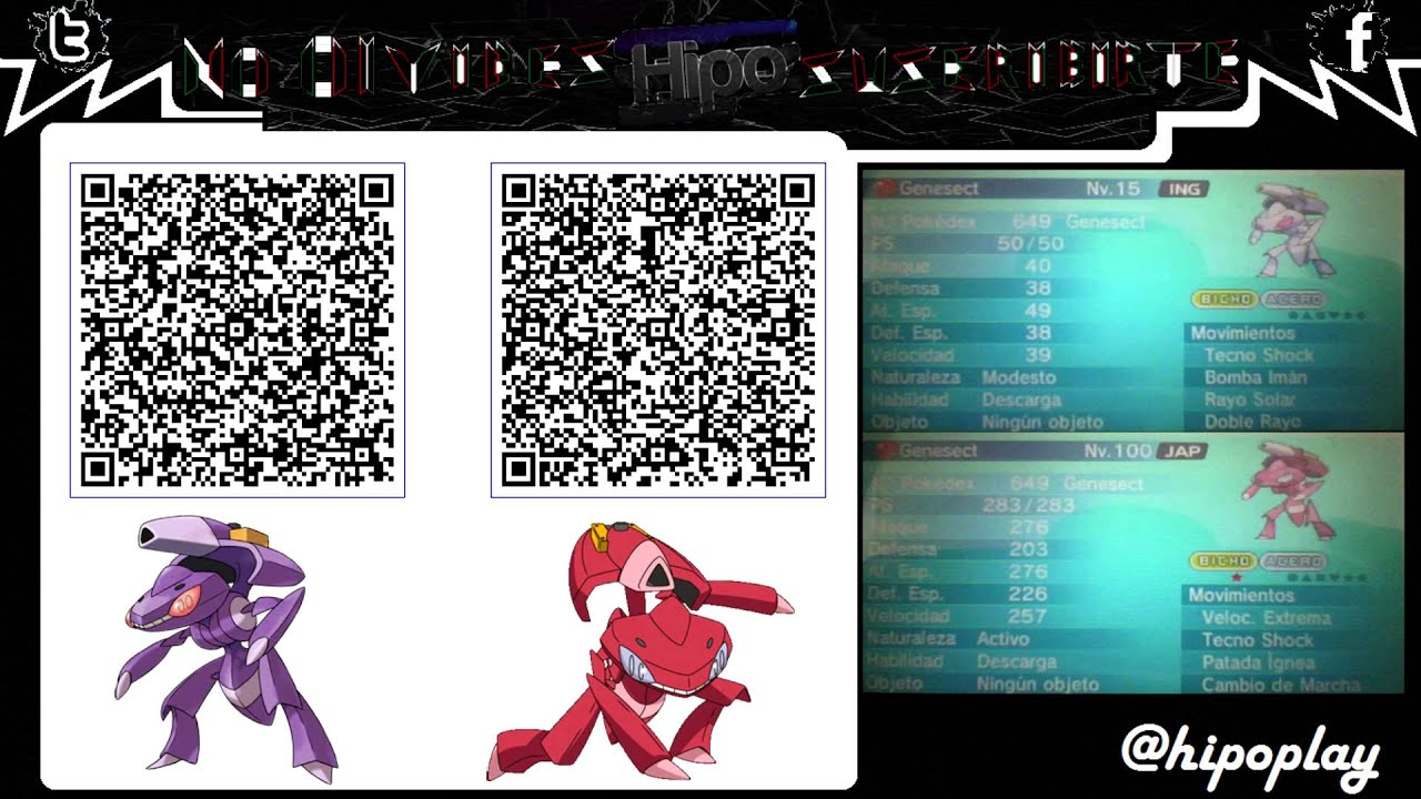 Terminado Code Qr Genesect Normal Amp Chiny Pokemon Xy