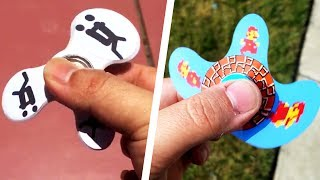 TOP 5 Most Insane WARPING Fidget Spinners! (Mario Spinner, Coolest Fidget Spinner WARPS)