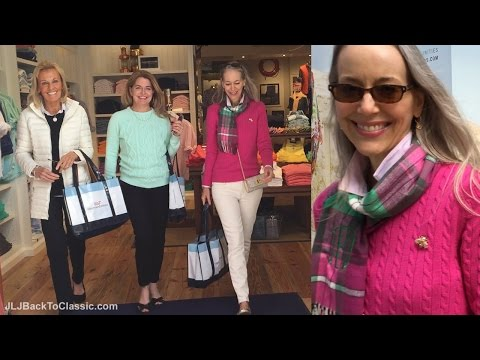 Classic Fashion Over 40/Over 50: Vlog--My First Visit To Vineyard Vines, Lunch With Friends, My OOTD
