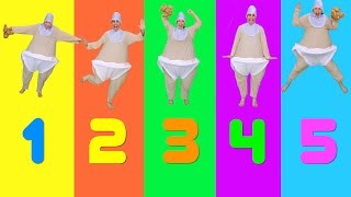 5 Little Babies Jumping On The Bed Nursery Rhyme with Bella & Beans