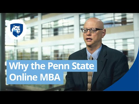 Why the Penn State Online MBA