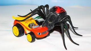 Вспыш и чудо машинки Мультик про машинки Монстр траки против Гигантского паука Мультфильмы для детей