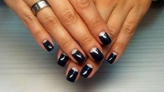 Дизайн ногтей гель-лак Shellac - Маникюр Dior / Лунный маникюр (уроки дизайна ногтей)