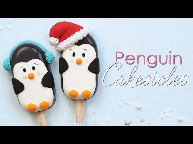 Christmas Penguin Cakesicle / Cake Popsicle Tutorial