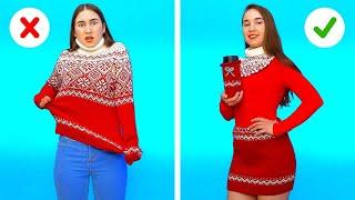 ARTESANÍAS Y TRUCOS ÚTILES PARA LA ROPA INVERNAL||8 Ideas para atuendos de invierno