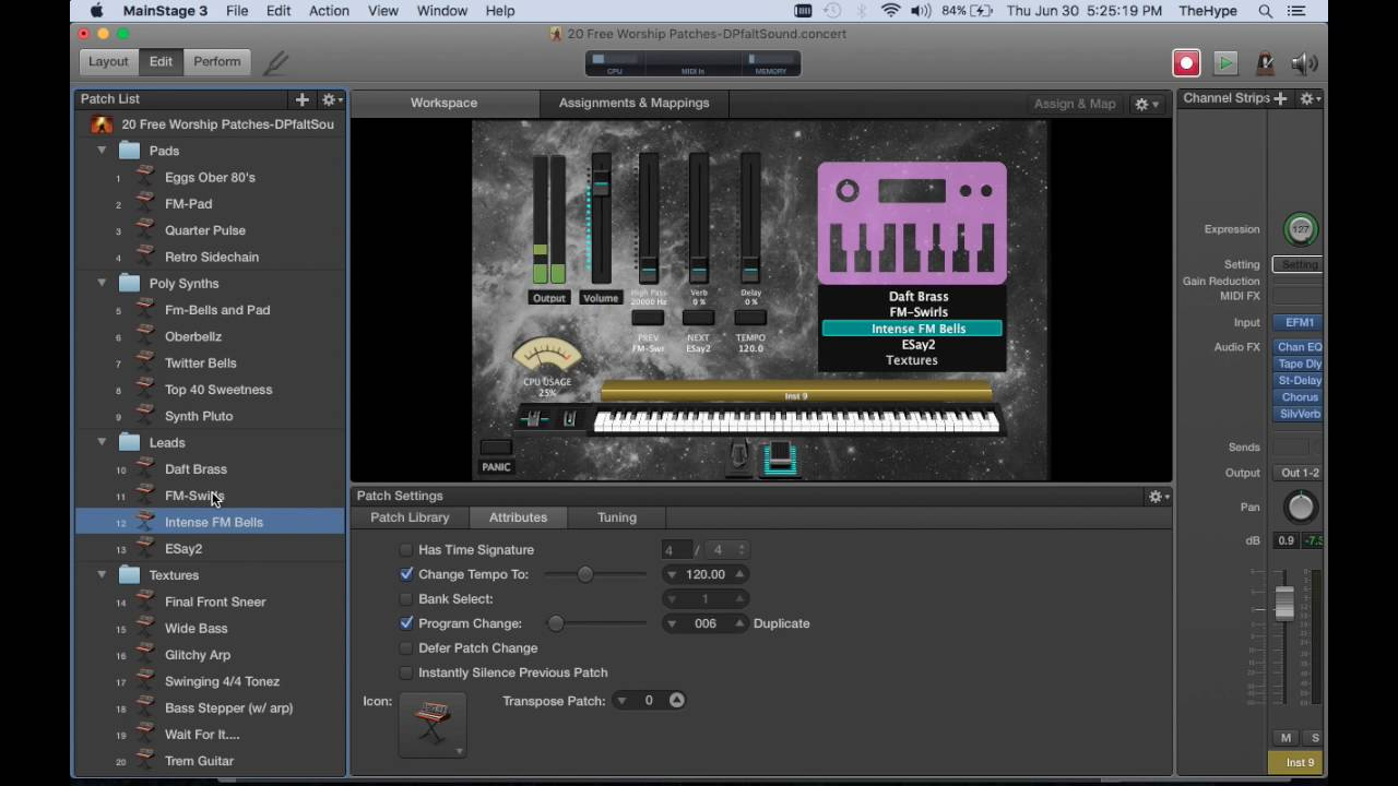 Free Worship Patches for MainStage - Sunday Sounds
