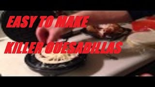 How To Make A Chicken Cheese Tomato Quesadilla With A Waffle Maker Iron Tutorial