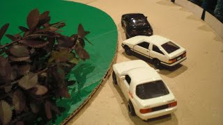 Initial D - Tomica toy cars stop motion #1 トミカ 頭文字D