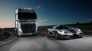 Volvo: Volvo Trucks - Volvo Trucks vs Koenigsegg: a race between a Volvo FH and a Koenigsegg One:1