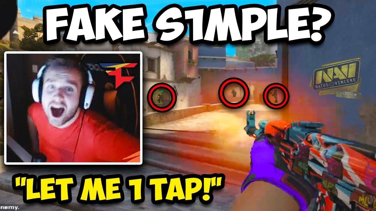 NIKO GOES 1 TAPS ONLY! FAKE S1MPLE IS INSANE? CS:GO Twitch Clips